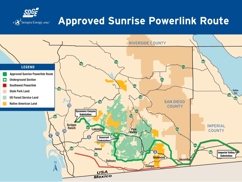 Sunrise Powerlink Defensible Space Grant Map